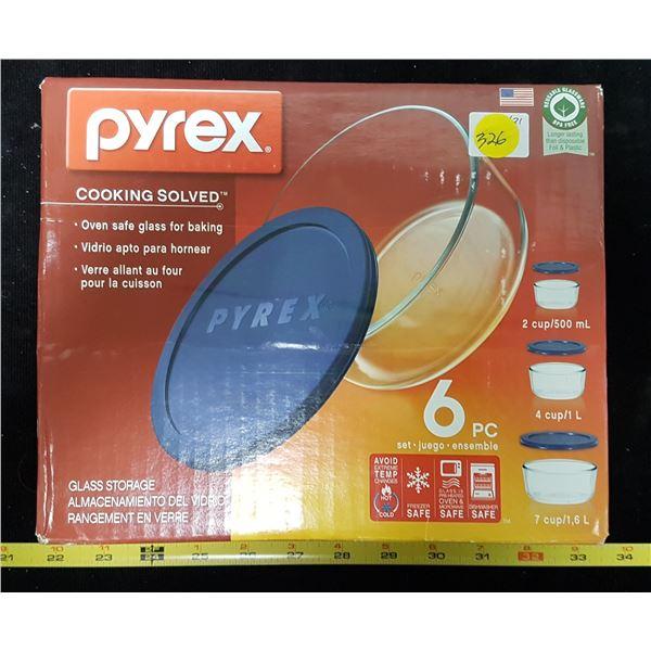 6 Pc. Pyrex Bowls