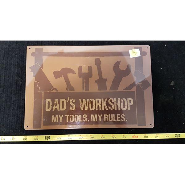 Dads Workshop Sign