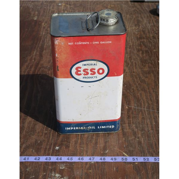 Full Vintage Esso Oil Can 1 gal.