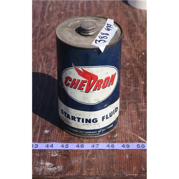 Chevron Starting Fluid Tin