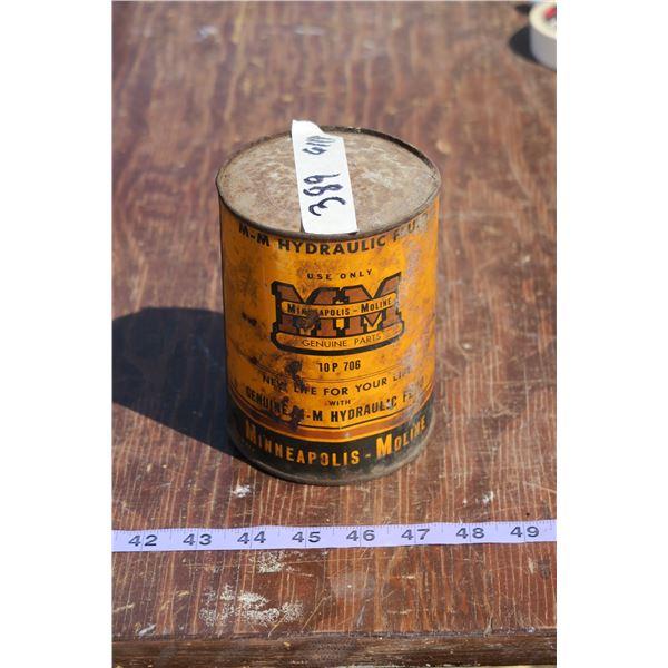 Minneapolis Moline Oil Tin