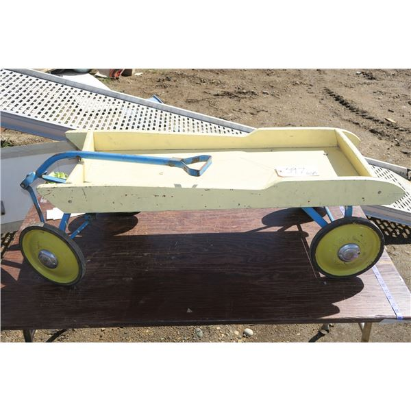 """Childs Wooden Wagon 45""""×15"""""""