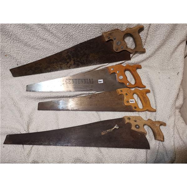 Lot of Hand Saws, Includes Rare Centennial Saw 1967