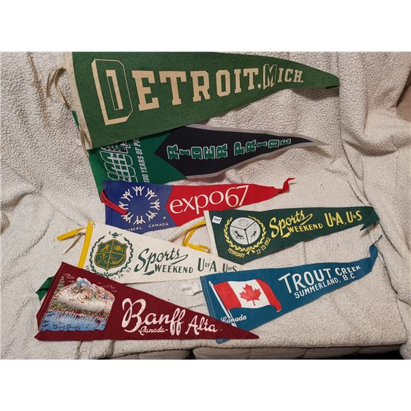 Lot of 7 Older Banners