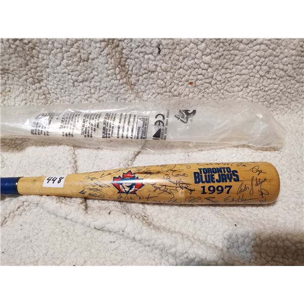 1997 Toronto Blue Jays Mini Bat, All Players