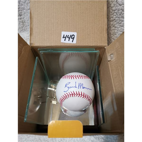 MLB Signed Player(?) Ofiicial Ball, with Case