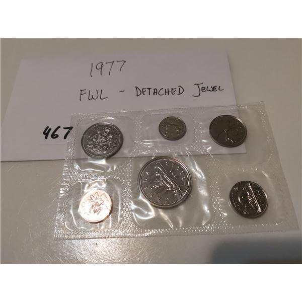 1977 FWL Detatched Jewel UNC CDN Coin Set
