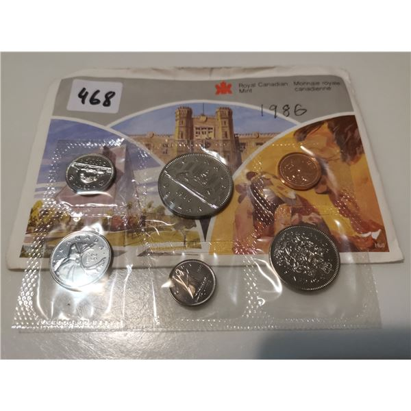1986 UNC CDN Coin Set