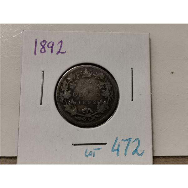 1892 Silver 25¢ Piece
