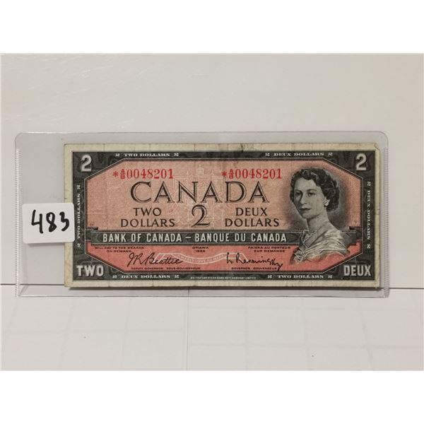 1954 Replacement $2 Bill, AB prefix
