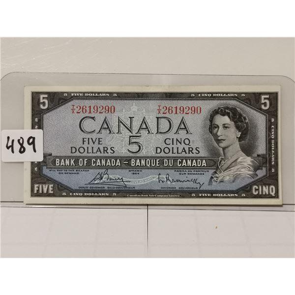 1954 $5 Bill, Bovey/Rashinsky