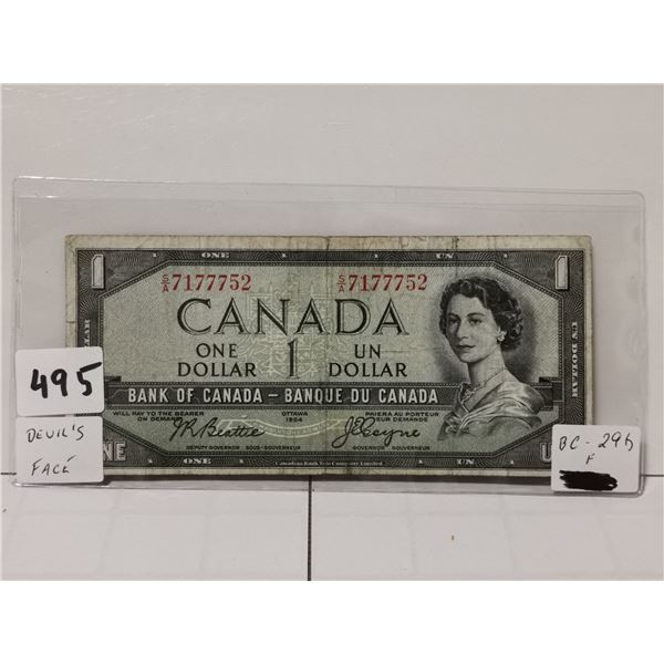 1954 $1 Devils Face Bill, Beattie/Coyne