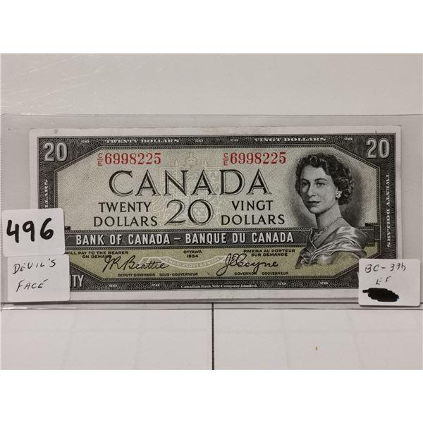 EF 1954 $20 Devils Face Bill, Beattie/Coyne