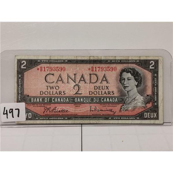 1954 $2 Replacement Bill, BB prefix