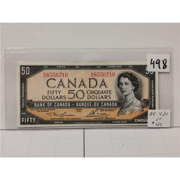 1954 EF+ $50 Bill, Lawson/Bovey