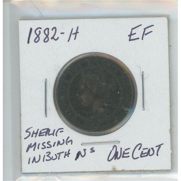 1882-H Victoria Large Cent