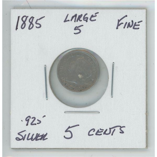 1885 Large 5 Cents