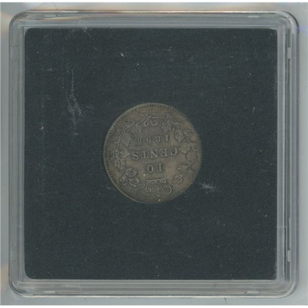 1898 Rare High Grade Victoria 10 Cents