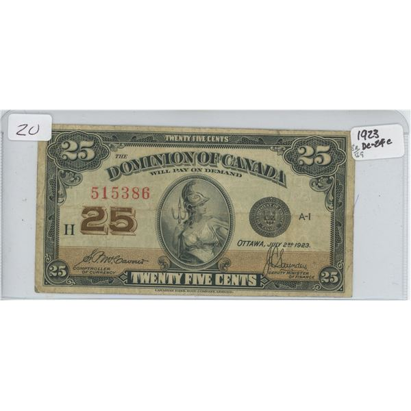 1923 Shinplaster 25 Cent Note