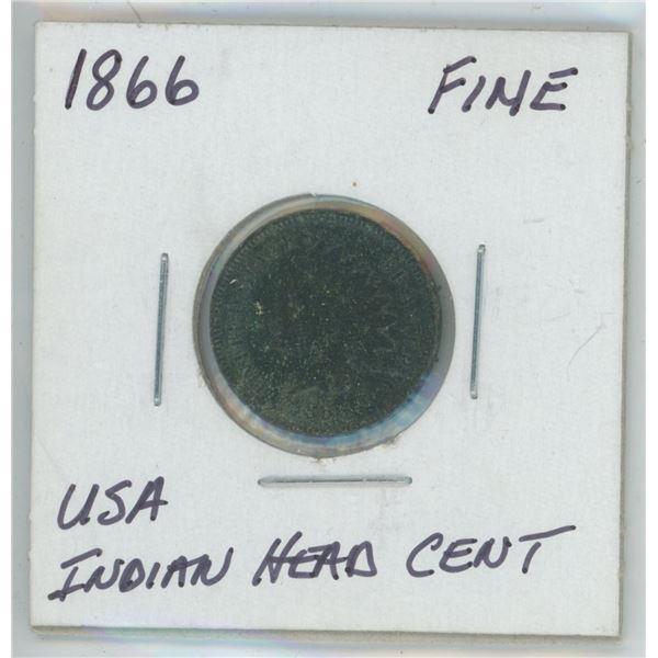 1866 USA Indian Head Cent