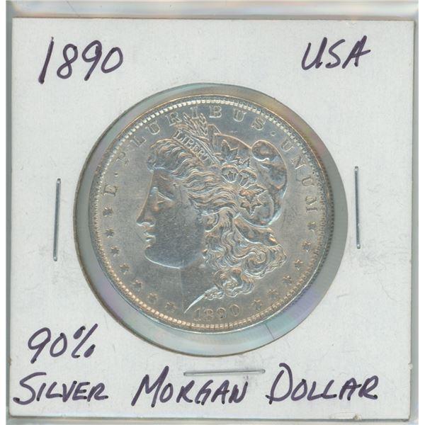 1890 90% Silver Morgan Dollar