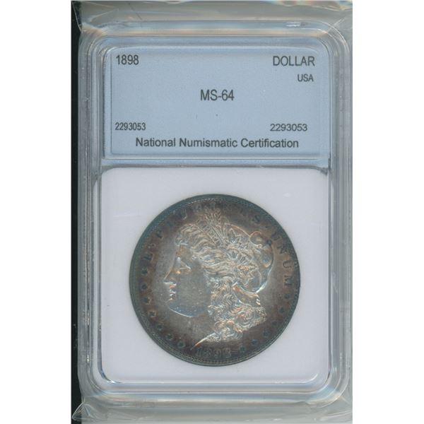 1898 MS - 64 90% Silver Morgan Dollar