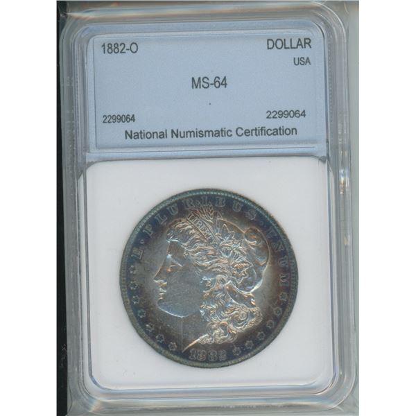 1882-0 MS-64 Morgan Silver Dollar