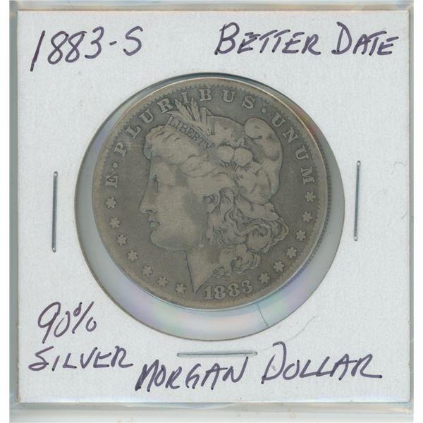 1883-5 Better Date Silver Morgan Dollar