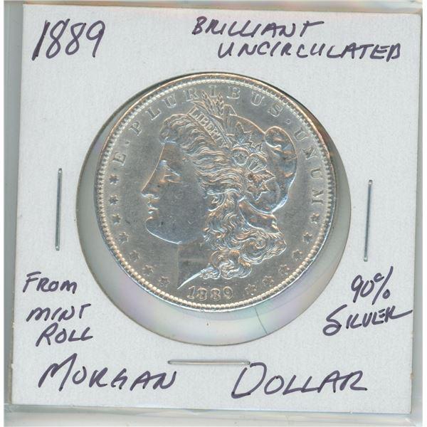 1889 90% Silver Morgan Dollar