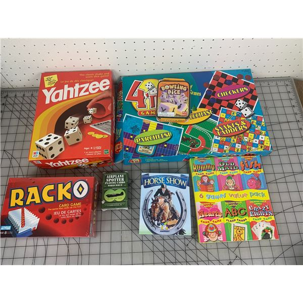 LOT OF BOARD AND CARD GAMES