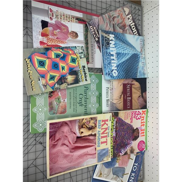 KNITTING CROCHET AND OTHER CRAFT RELATED BOOKS AND MAGAZINES