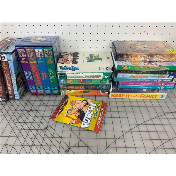 LOT OF DVDS AND VHS