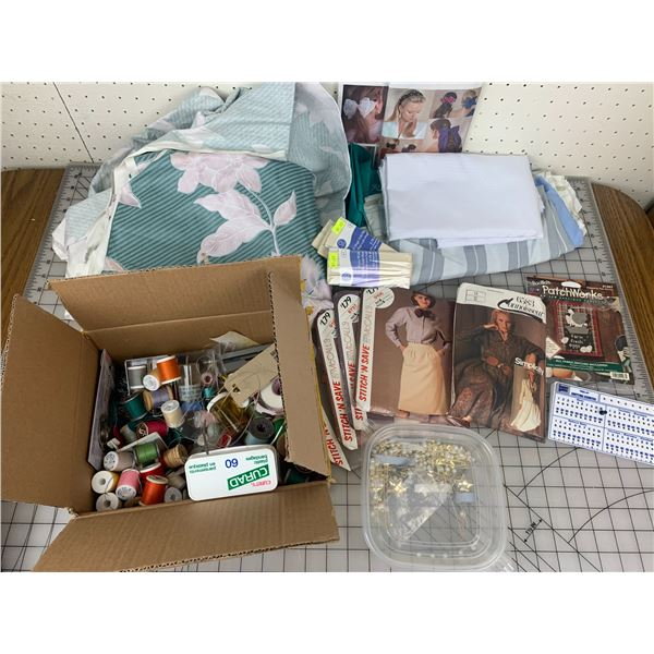 SEWING LOT MATERIAL THREADS PATTERNS ETC