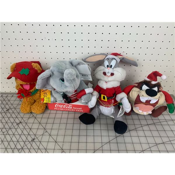 LOT OF PLUSH TOYS LOONEY TUNES COCA-COLA MUPPETS