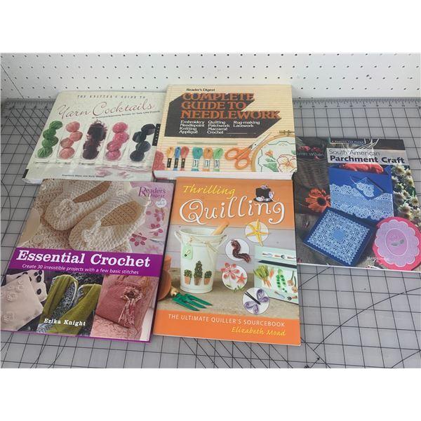 LOT OF CRAFT BOOKS KNITTING CROCHET ETC