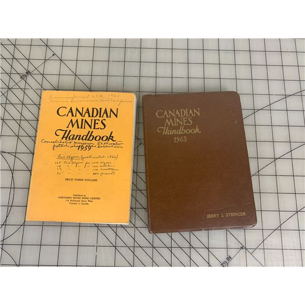CANADIAN MINES HANDBOOKS 1959 1963