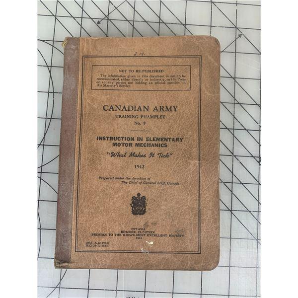 1942 WWII CANADIAN ARMY MOTOR MECHANICS BOOK