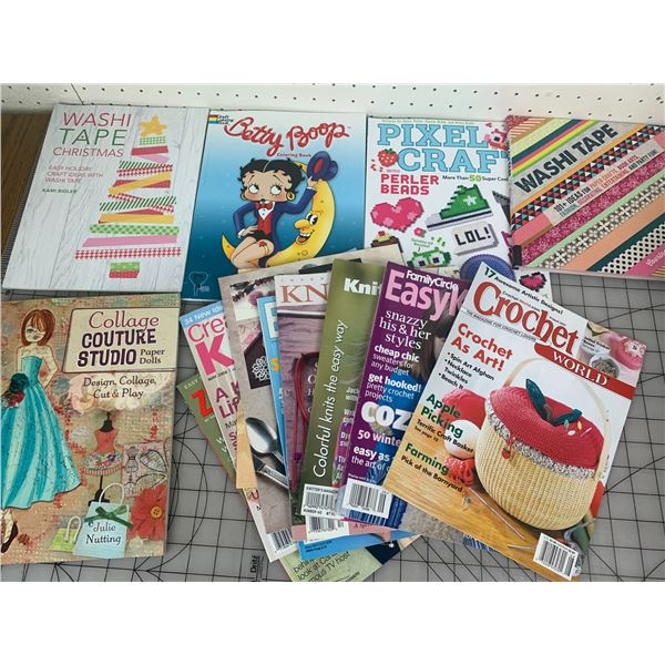 CRAFT BOOKS AND KNITTING AND CROCHET MAGAZINES