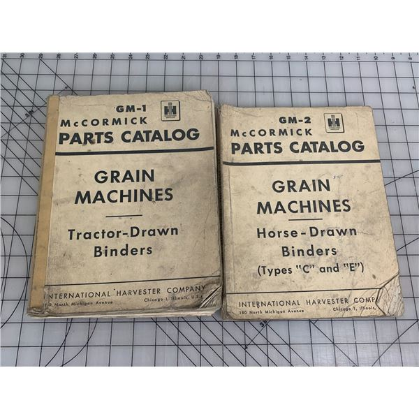 INTERNATIONAL HARVESTER MCCORMICK BINDER PARTS CATALOGS HORSE AND TRACTOR DRAWN BINDERS