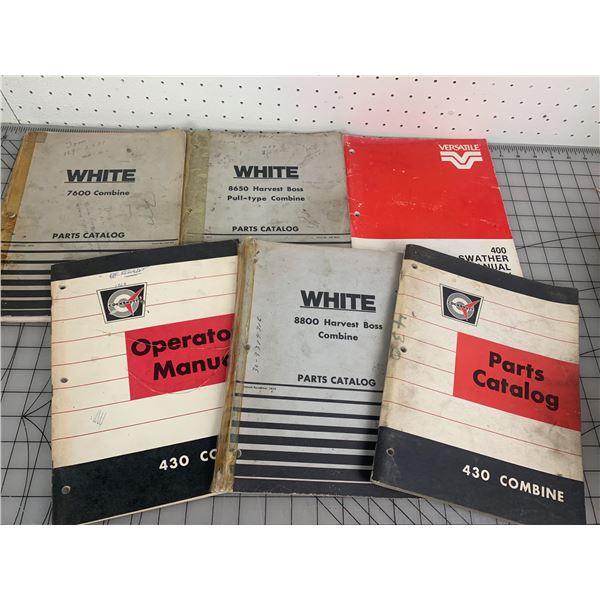 MANUALS ETC LOT WHITE COCKSHUTT VERSATILE