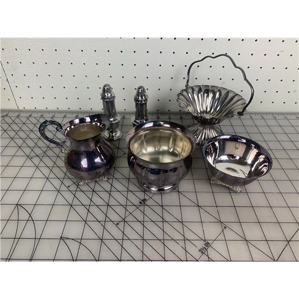 LOT OF PLATED ETC PIECES