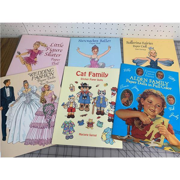 LOT OF VARIOUS UNUSED PAPERDOLL BOOKS