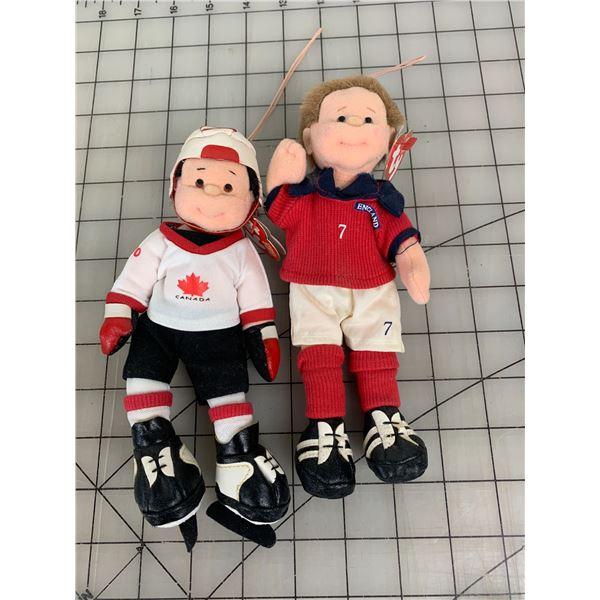 LOT OF TY BEANIE BABIES SOCCER HOCKEY CANADA
