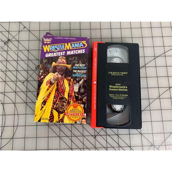 WWF VHS WRESTLE MANIA GREATEST MATCHES