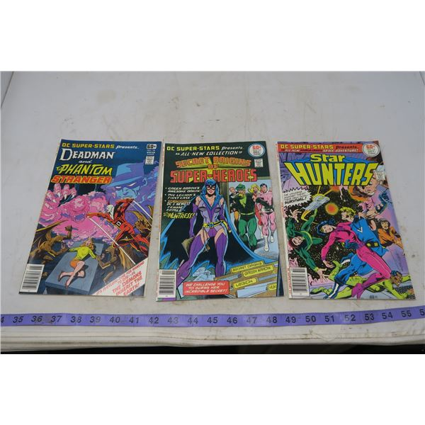 Lot DC Superstars Star Hunters, Oct 1977-Feb1978, 60 cents
