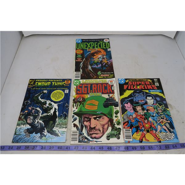 Lot Special Series Swamp Thing, 1977(#1) Sgt Rock Special 1977#3 Unexpected Special 1977 etc.