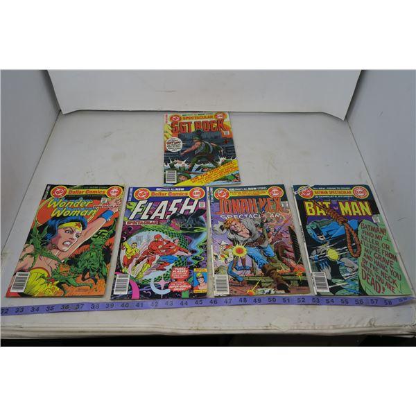 Lot Special Series, Wonderwoman, Flash, Sgt Rock, Batman, Jonah Hex, 1978 $1.00