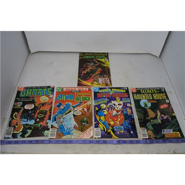 Lot Special Series Ghosts, Brave & Bold, Superheroes, Haunted House, Swamp Thing, 60 cents 1977-78