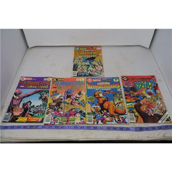 Lot DC Special, Muskateer & Robinhood, Danger Dinosaurs, Earth Shattering Disasters, Justice Society