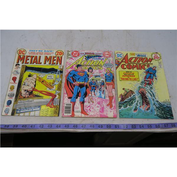 Metelmen 20 cents 1973, Action Comics, 20 cent 1974 #439, #500 $1.00 Action Comic